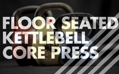 Floor Seated Kettlebell Core Press