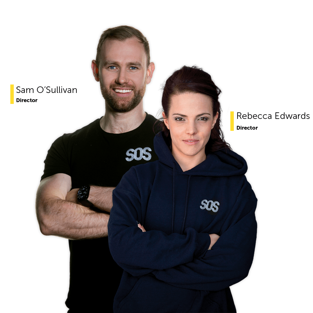 SOS Athletic Excellence Cardiff Directors Sam O' Sullivan and Rebecca Edwards