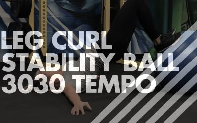 Leg Curl – Stability Ball – 3030 Tempo