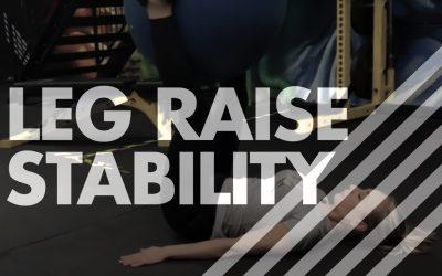Leg Raise – Stability Ball